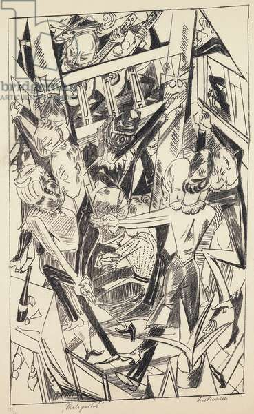 The night, 1921, by Max Beckmann (1884-1950), lithograph. Germany, 20th century.