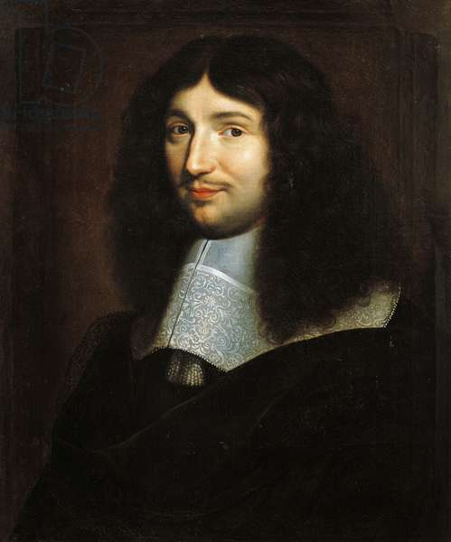 Portrait of Jean-Baptiste Colbert (1619-1683), French statesman, Painting by School of Philippe de Champaigne