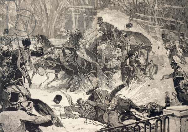 The Attempt on Alexander II Romanov in St Petersburg, March 13, 1881