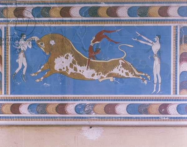 Bull-leaping of Taurokathapsia (fresco)