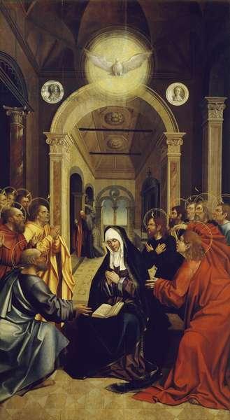 Pentecost, 16th century, Portuguese painting