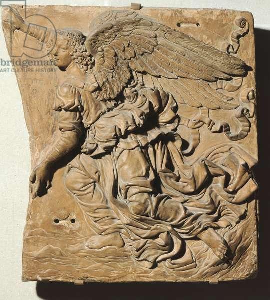 Angel by Andrea del Verrocchio (1435-1488), terracotta