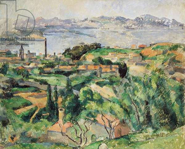 View of the Bay of Marseille with the Village of Saint-Henri, ca 1883, by Paul Cezanne (1839-1906), oil on canvas, 65.9x81.3 cm