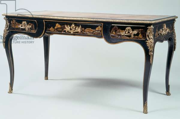 Writing table (bureau plat) in Chinese taste, Louis XV style, France, 18th century