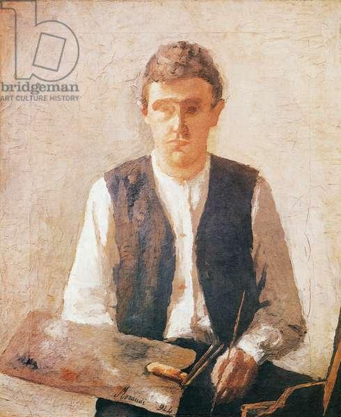 Self portrait, 1924, by Giorgio Morandi (1890-1964), oil on canvas, 48x40 cm. Italy, 20th century.