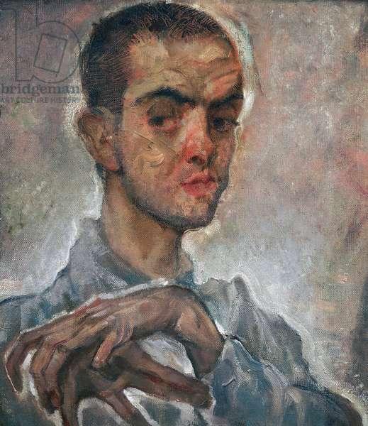 Portrait of Egon Schiele, c.1910 (oil on canvas)