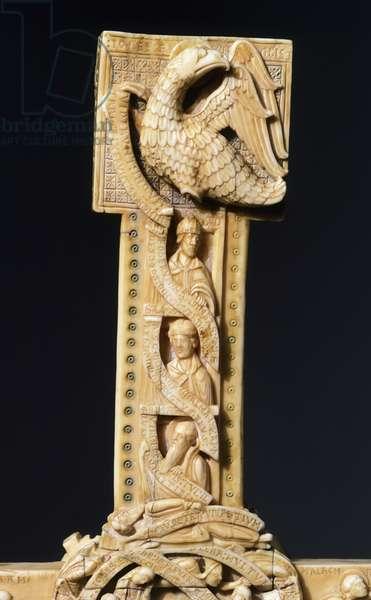 Cloisters Cross, detail, walrus ivory, 57x36 cm