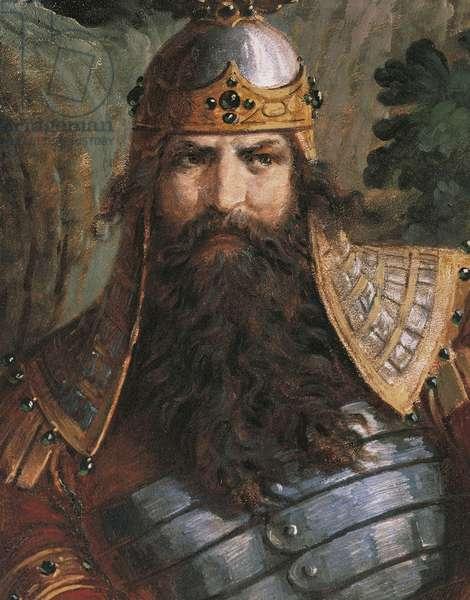 Gunther, King of Burgundy, c.1882-83 (mural)