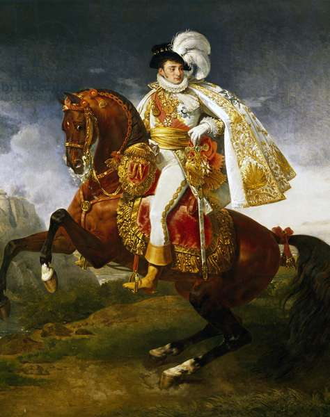 Portrait of Gros Jerome Bonaparte (Ajaccio, 1784-Villegenis, 1860), Prince of Montfort from 1816 and Marshal of France from 1850.