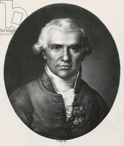 Portrait of Gaspard Monge (Beaune, 1746-Paris, 1818), mathematician, engraving. France, 18th-19th century