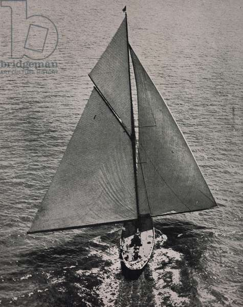 The yacht Britannia at the Royal Harwich Regatta, United Kingdom, photograph from The Tatler, No 1408, June 20, 1928, London