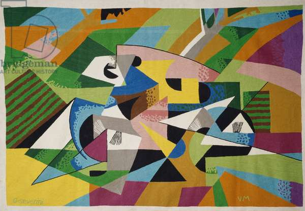 Tapestry from a drawing by Gino Severini (1883-1966). Italy, 20th century.