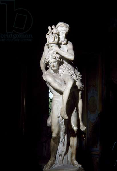 Aeneas, Anchises and Ascanius, 1618-1619, by Gian Lorenzo Bernini (1598-1680), marble sculptural group, height 220 cm, Italy, 17th century