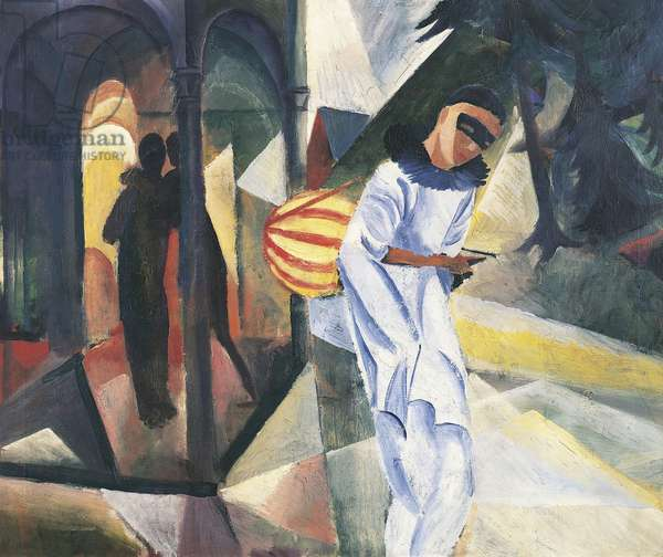 Pierrot, 1913, by August Macke (1887-1914), oil on canvas, 75x90 cm