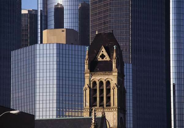 View of Renaissance Center (20th century), Detroit, Michigan, USA