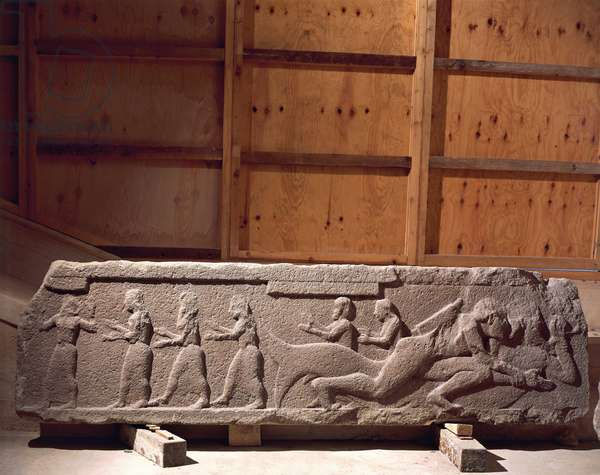 Frieze of from Temple of Assos, Turkey, 6th Century B.C.
