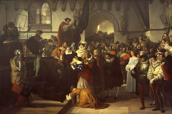 Mary Queen of Scots being led to the scaffold, 1827, by Francesco Hayez (1791-1882), oil on canvas, 211x290 cm.