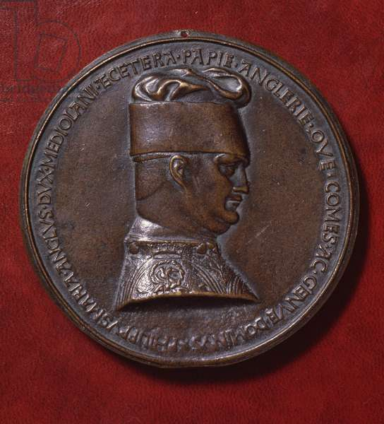 Bronze medal of Filippo Maria Visconti (1392-1447), reverse, designed in 1441 by Antonio di Puccio Pisano, known as Pisanello (ca 1395-1455), diameter 10,20 cm, 15th century