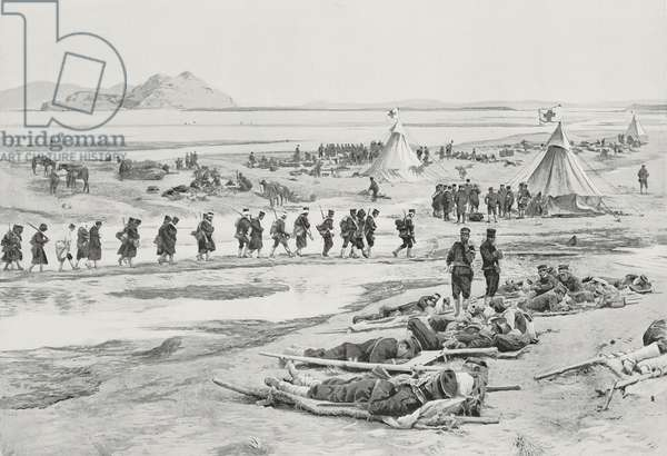 Japanese casualties after Battle of Yalu River, North Korea, Russo-Japanese War, photo by Hare from L'Illustration, No 3202, July 9, 1904