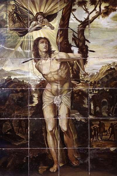 Martyrdom of St Sebastian by Saul Rosa (20th century)