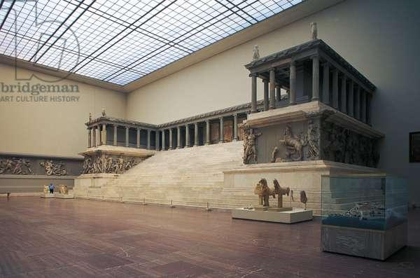 The Pergamon Altar, 180-160 BC, marble, Hellenistic Civilization, 2nd century BC