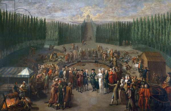 Laying foundation stone of Temple of Concordia in Luxembourg, 1795, painting by Martin Knoller, oil on canvas, 119x183 cm