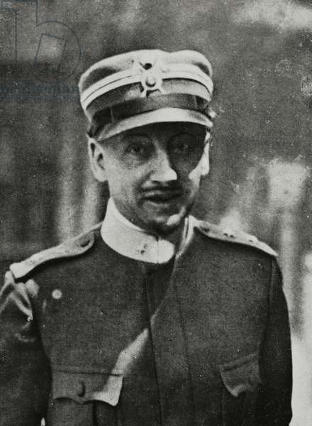 Portrait of Gabriele d'Annunzio (1863-1938), Italian writer and patriot, from L'Illustrazione Italiana, Year XLIII, No 41, October 8, 1916