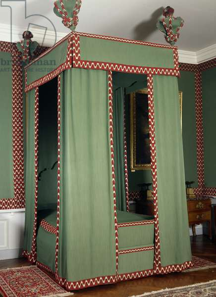 Original Louis XIII style canopy on bed made in recent times, France, 17th century