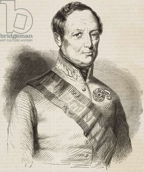 Portrait of Joseph Radetzky (1766-1858), Austrian politician and officer, illustration from the magazine L'Illustration, Journal Universel, vol 13, no 320, April 14, 1849