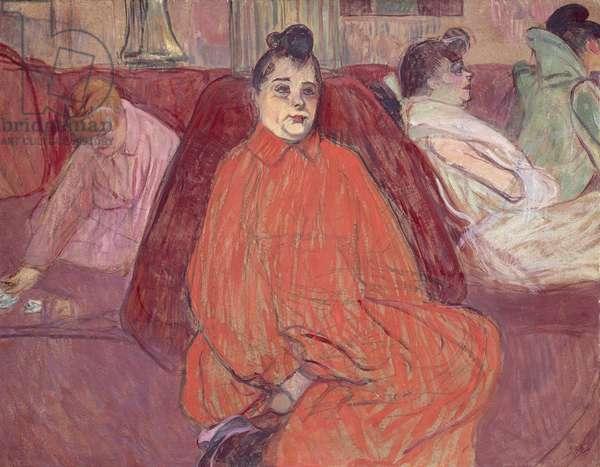 At Salon, sofa, 1893, by Henri de Toulouse Lautrec (1864-1901)