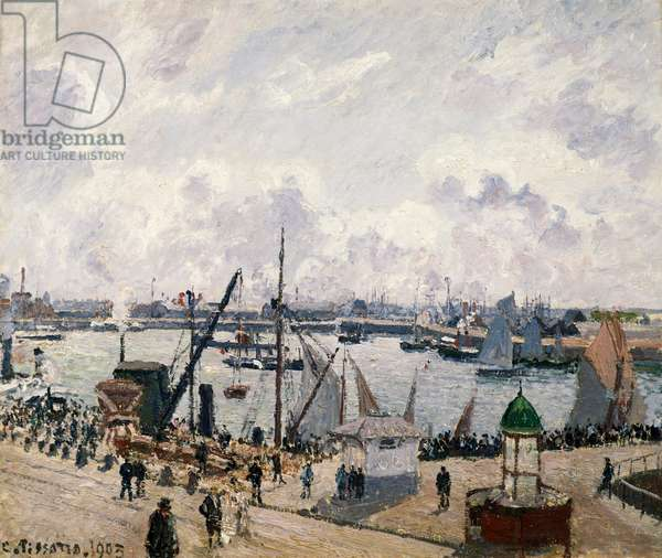 Le Quai de Southampton au Havre, 1903, by Camille Pissarro (1830-1903), oil on canvas. Francia, XX secolo.