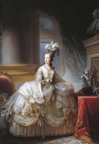 Portrait of Marie Antoinette (Vienna, 1755-Paris, 1793), Archduchess of Austria and Queen consort of Louis XVI (1754-1793), King of France, 1780