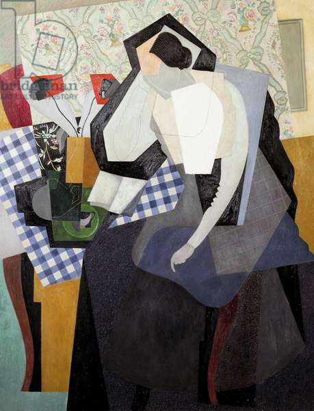 Woman reading, 1916, by Gino Severini (1883-1966), oil on canvas. Italy, 20th century.