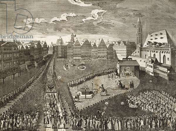 Ceremony for Leopold II in Frankfurt in 1790, Germany, 18th century