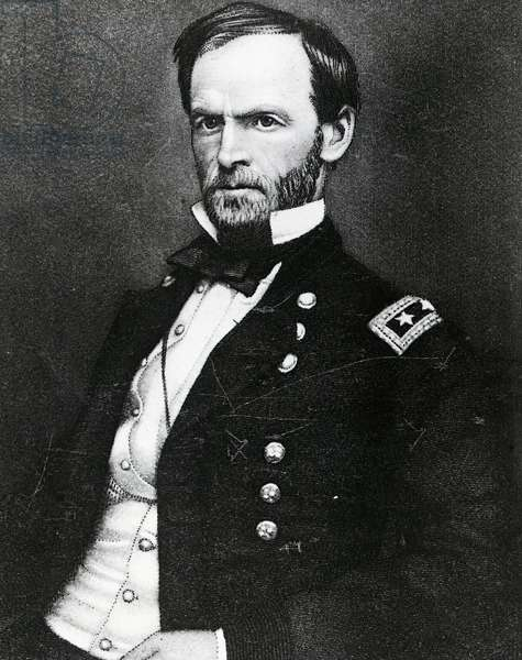 Portrait of William Tecumseh Sherman (Lancaster, 1820-New York, 1891), American general, United States of America, 19th century