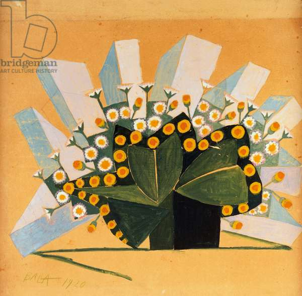 Flowers and space, 1920, by Giacomo Balla (1871-1958). Italy, 20th century.