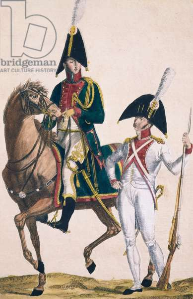 Honor Guards in full uniform, First Empire, 1804-1815, France, 19th century