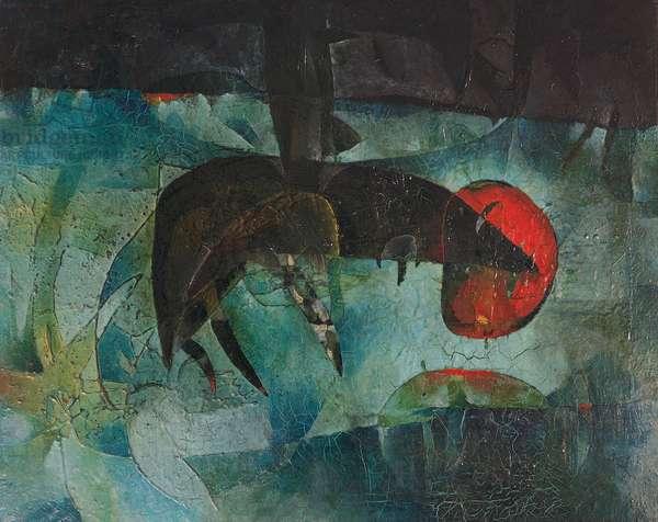 Beast, 1955, by Gianni Dova (1925-1991). Italy, 20th century.