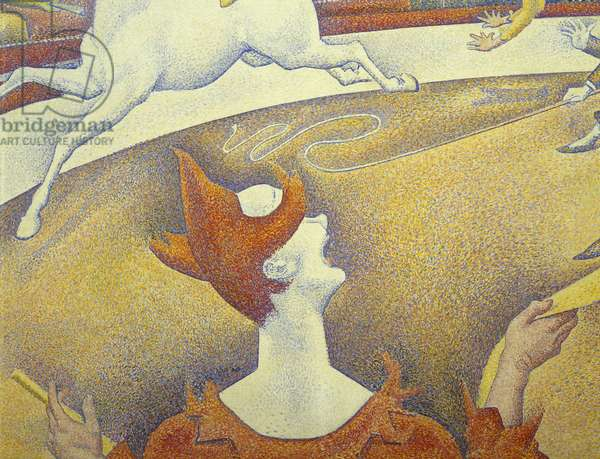 Circus, 1890-1891, by Georges Seurat (1859-1891), oil on canvas, 185x152 cm, Detail