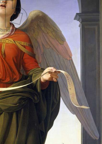 The Sacred Music, by Luigi Mussini, detail, 1841