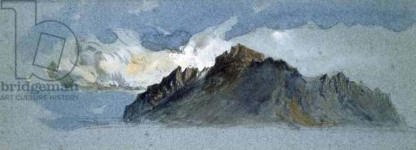 Mount Pilatus, 1854, by John Ruskin (1819-1900), watercolor.