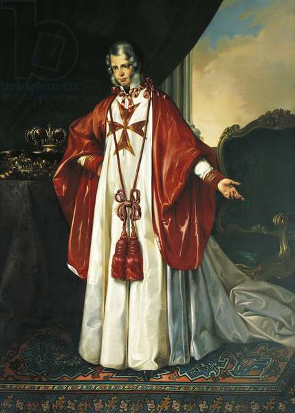 Portrait of Leopold II, Grand Duke of Tuscany (Florence, 1797-Rome, 1870), with the insignia of the Order of Saint Stephen (1797-1870), ca 1840, by Giuseppe Bezzuoli (1784-1855), Palace of the Knights (home of the Scuola Normale Superiore), Pisa, Italy