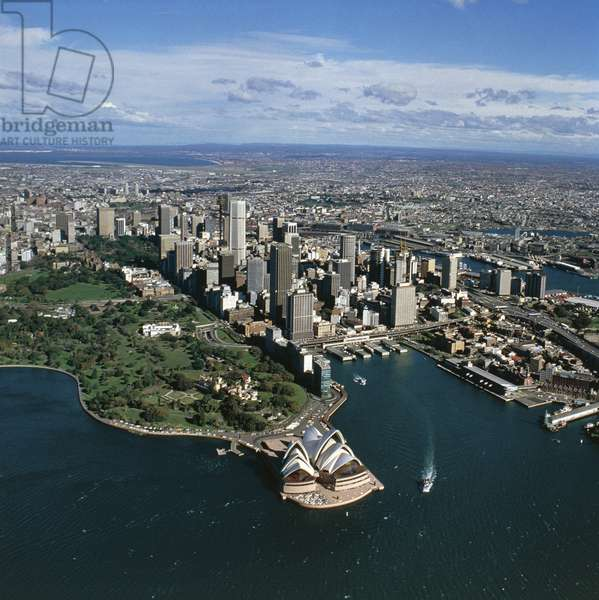 Aerial view of Sydney, New South Wales (colour photograph)