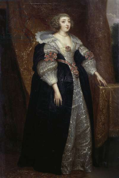 Portrait of Margaret of Lorraine (1615-1672) Duchess of Orleans, 1634, by Anthony van Dyck, oil on canvas 356x997 cm