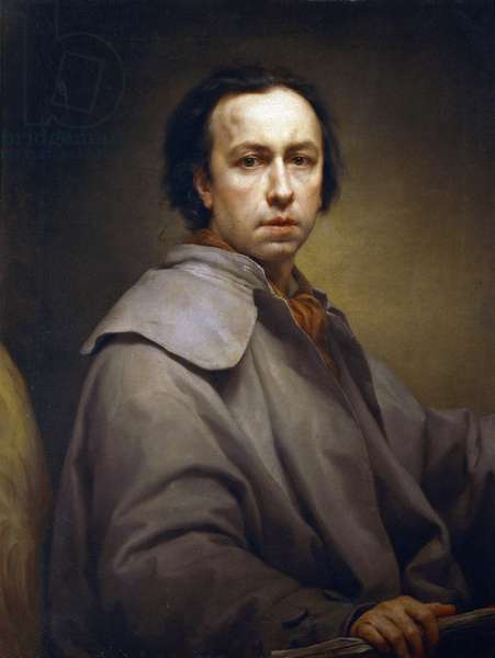 Self-Portrait, by Anton Raphael Mengs, Circa 1776, oil on canvas, 1728-1779, 89x685 cm