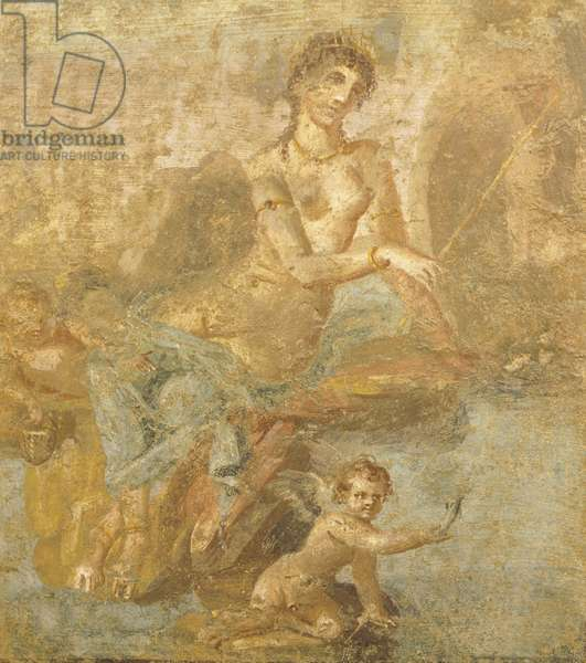 Fresco depicting Orestes, Pylades, and Iphigenia, from House of Golden Cupids, Pompeii , Campania, Roman Civilization, 1st Century