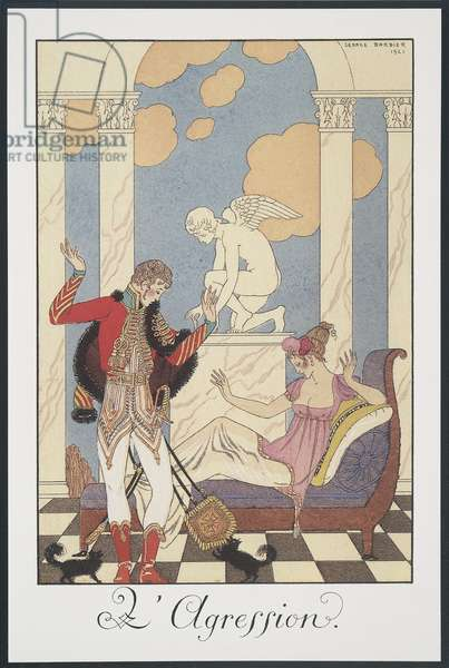 Falbalas et Fanfreluches, Almanac for 1922, L'Aggression, by George Barbier, print