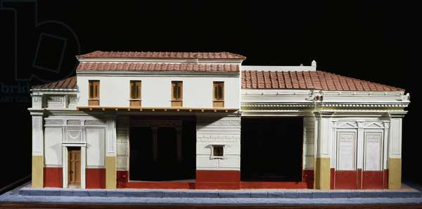 Model depicting House of Tragic Poet (also known as Homeric House or Iliadic House) in Pompeii created by Enrico Scalfi (1857-1935), Roman Civilization