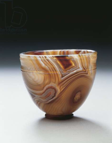 Agate bowl, used as container for ointments and lotions, From Ercolano
