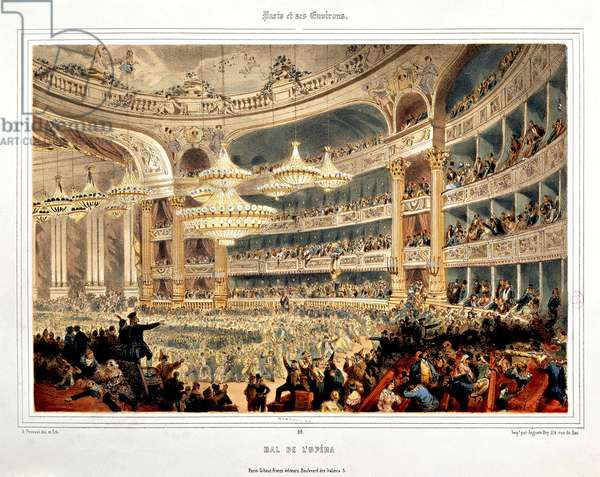 Ball at Paris Opera by A Provost, Engraving